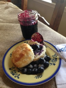 LAURA-SURFACE - blueberry preserves