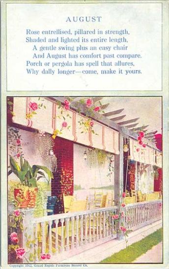 August porch postcard