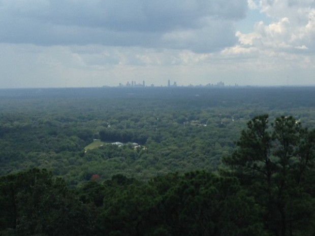 Atlanta skyline from Stone Mountain