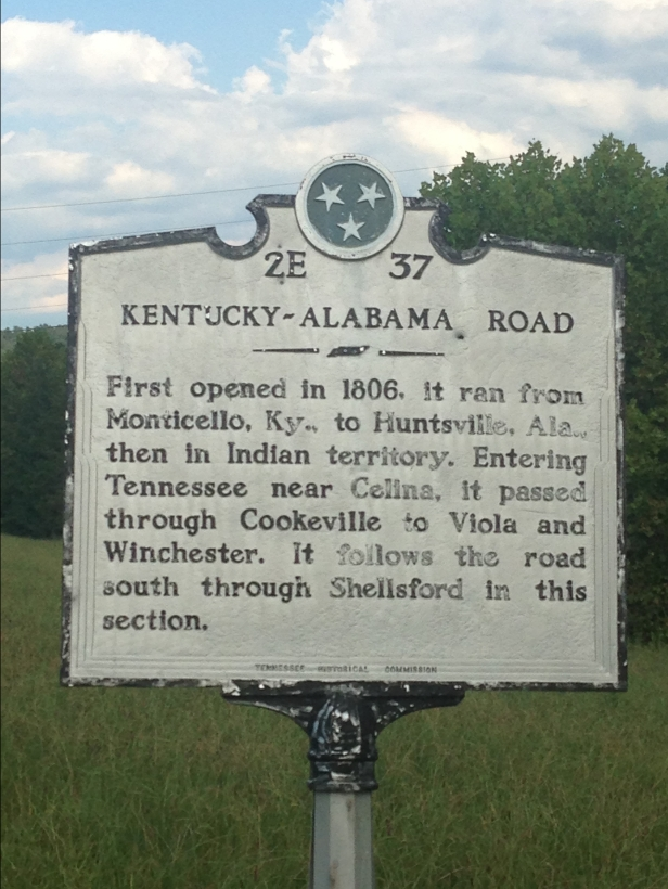 kentucky alabama road sign