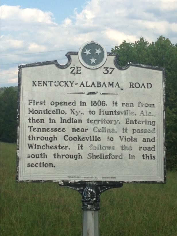 kentucky alabama road sign