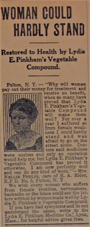 Advertisement dated August 23, 1917.